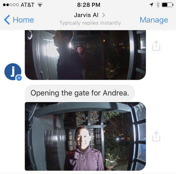 Jarvis utiliza el reconocimineto de imágenes para abrir la puerta a los amigos que estamos esperando