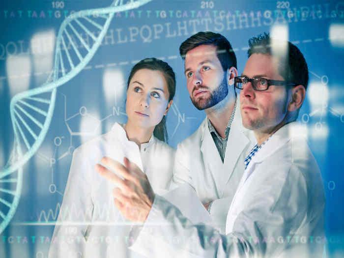 Investigadores de ADN y genómica