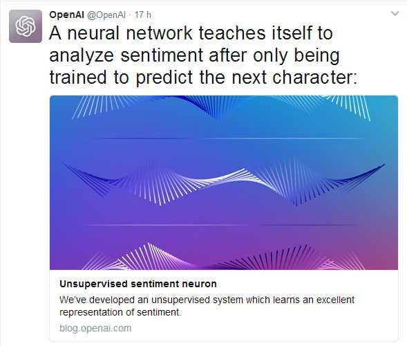 Tweet de los investigadores de OpenAI anunciando el hallazgo.