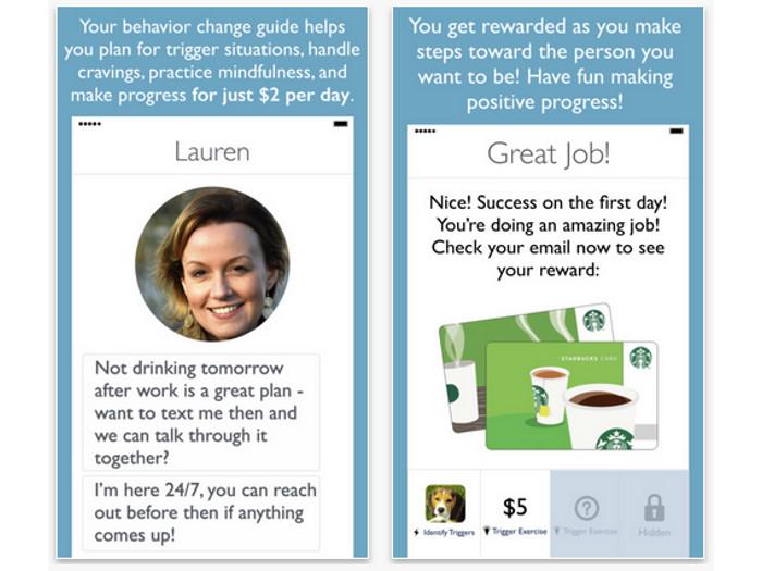 Capturas de pantalla de la app Triggr Health