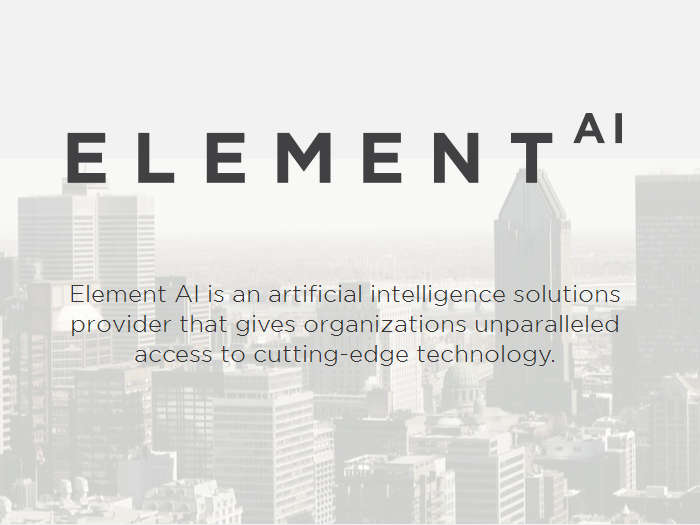 IA como servicio: Element AI consigue 102 millones de dólares de financiación