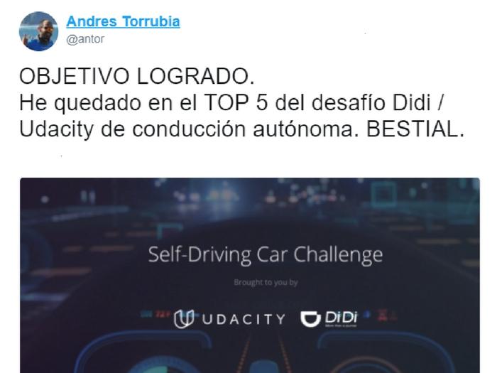 Andres Torrubia desafío Didi Udacity