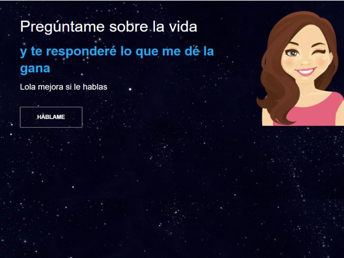 Lola, el chatbot de euroresidentes hecha con la plataforma de Google