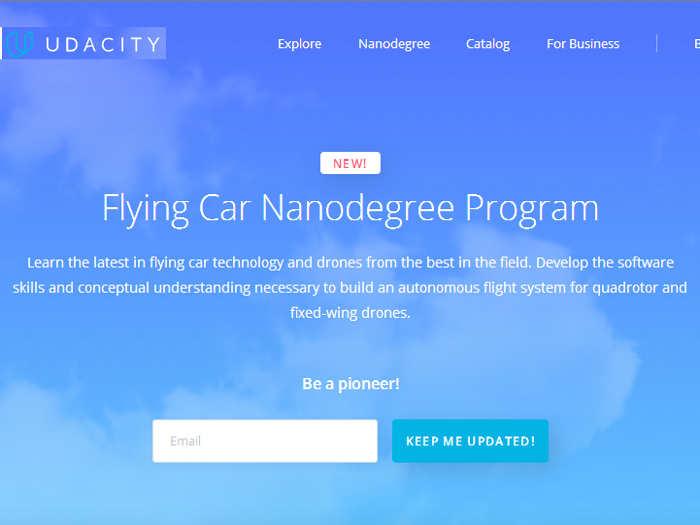 """Udacity lanza """"Flying Car Nanodegree"""", un curso sobre ¿coches autónomos voladores?"""