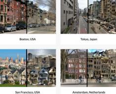 Ciudades editadas por el algoritmo de Deep Empathy