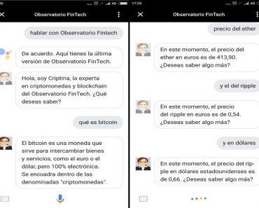 Criptina en Google Assistant