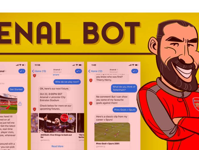 El Arsenal ha presentado su chatbot oficial: Robot Pires