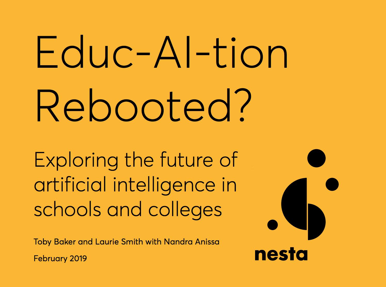 Informe Nesta (Reino Unido) sobre la IA aplicada a la educación