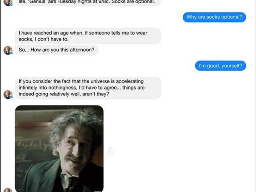 Las claves de un clásico: 'Albert Einstein' un chatbot para promocionar 'Genius' de National Geographic