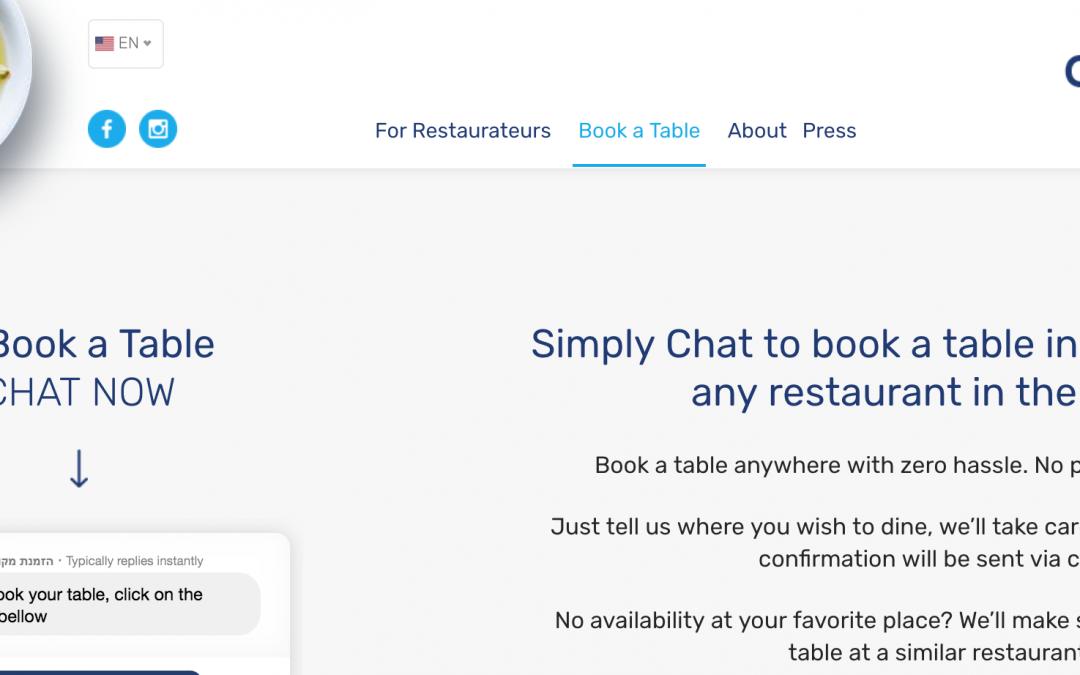 El cofundador de Waze, Uri Levine, invierte en un chatbot para reservar restaurantes