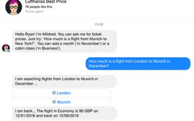 Grupo Lufthansa apuesta por los chatbots para su red de aerolíneas