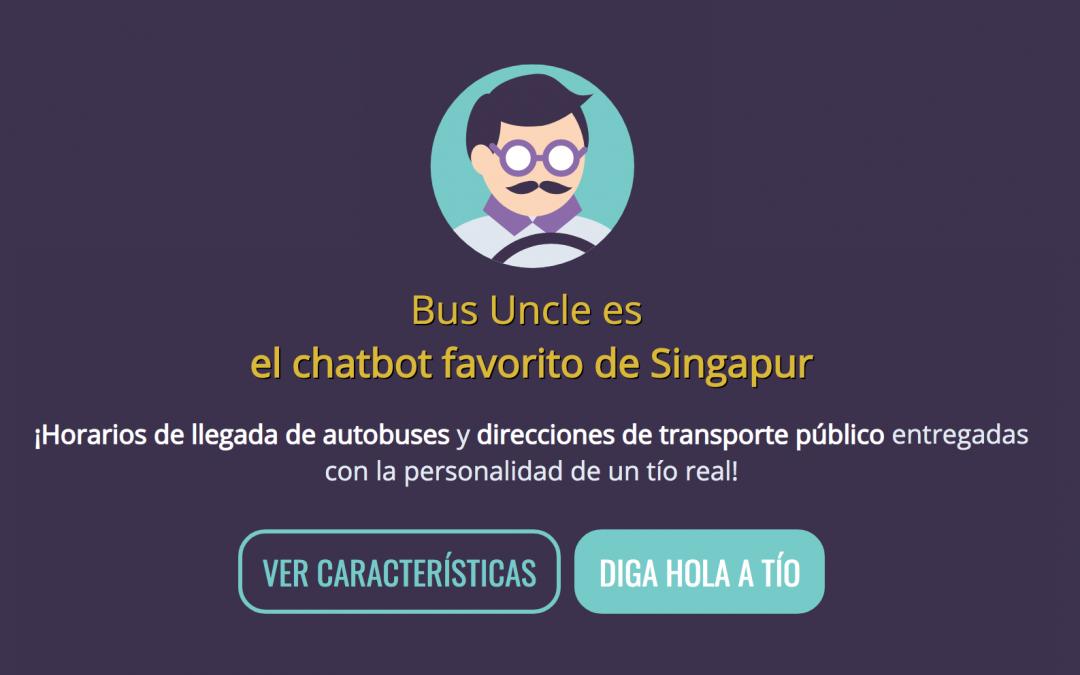 'Bus Uncle' un chatbot peculiar para asistir y entretener a los viajeros de bus en Singapur