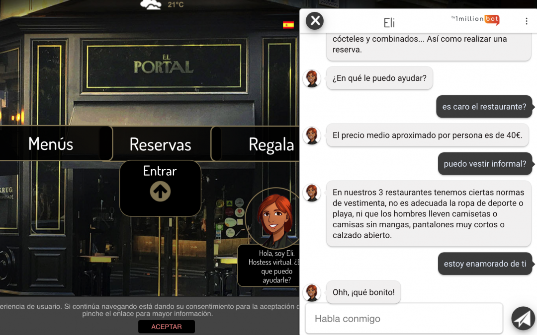 Chatbots en restaurantes: un nuevo servicio 24 horas