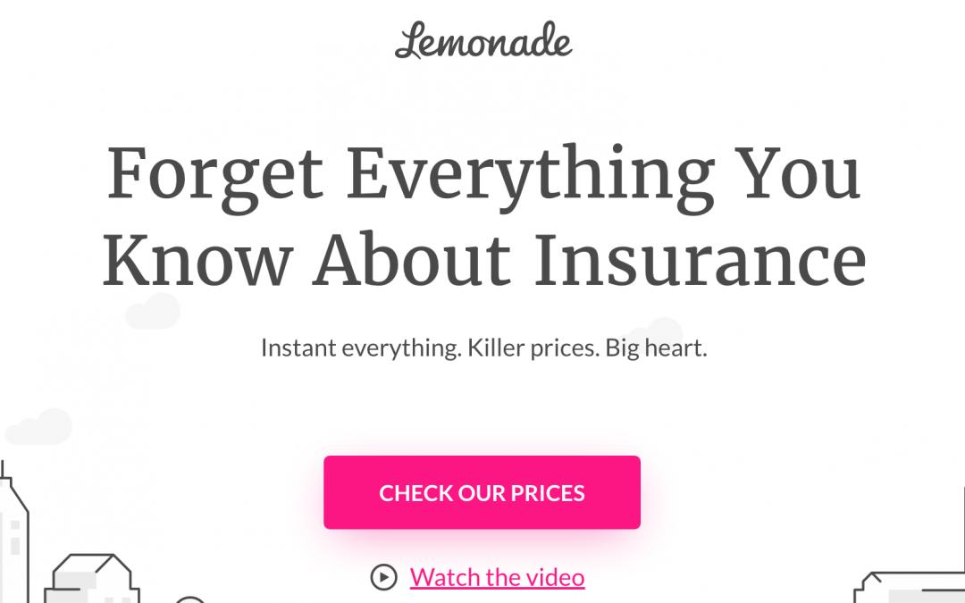 Lemonade: IA, seguros del hogar y chatbots (ronda de 480 millones de $)