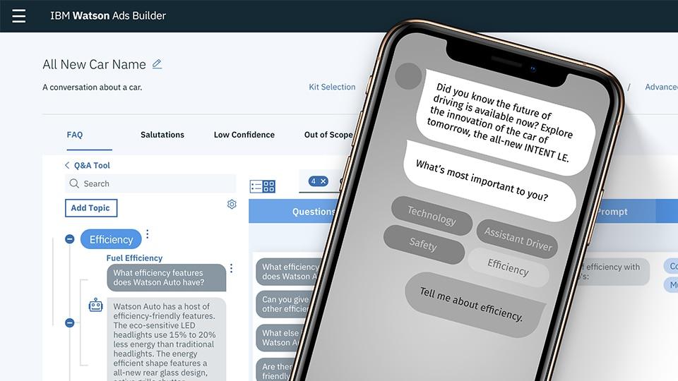 Plataforma IBM Watson: diseño de anuncios gráficos con chatbots