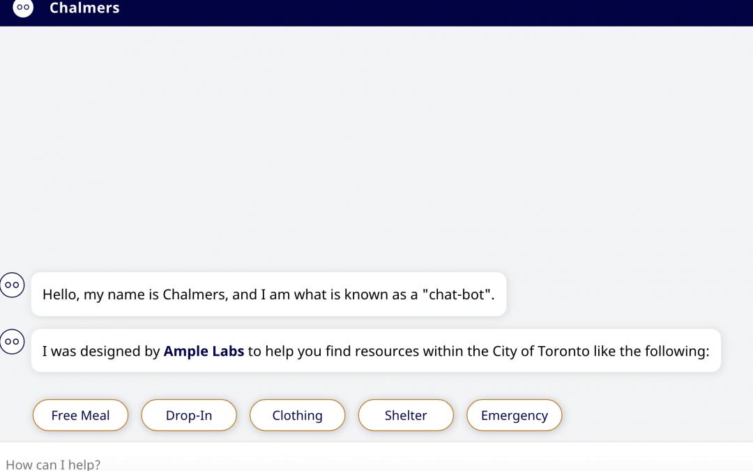 Chatbot en Toronto para conectar 'homeless' con ayuda