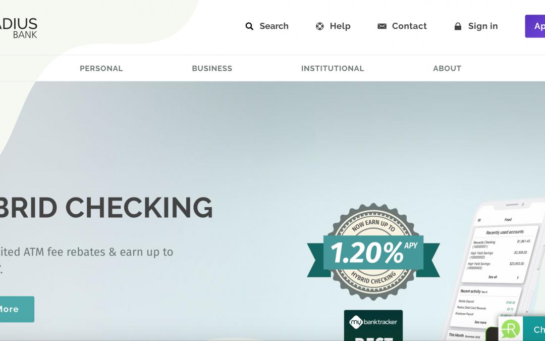 Radius Bank  (Boston) redefine una banca digital sin sucursales e introduce un chatbot