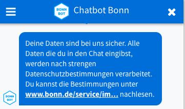 Chatbot de la Ciudad de Bonn