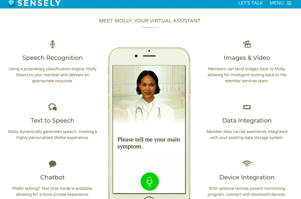 chatbot sensely salud