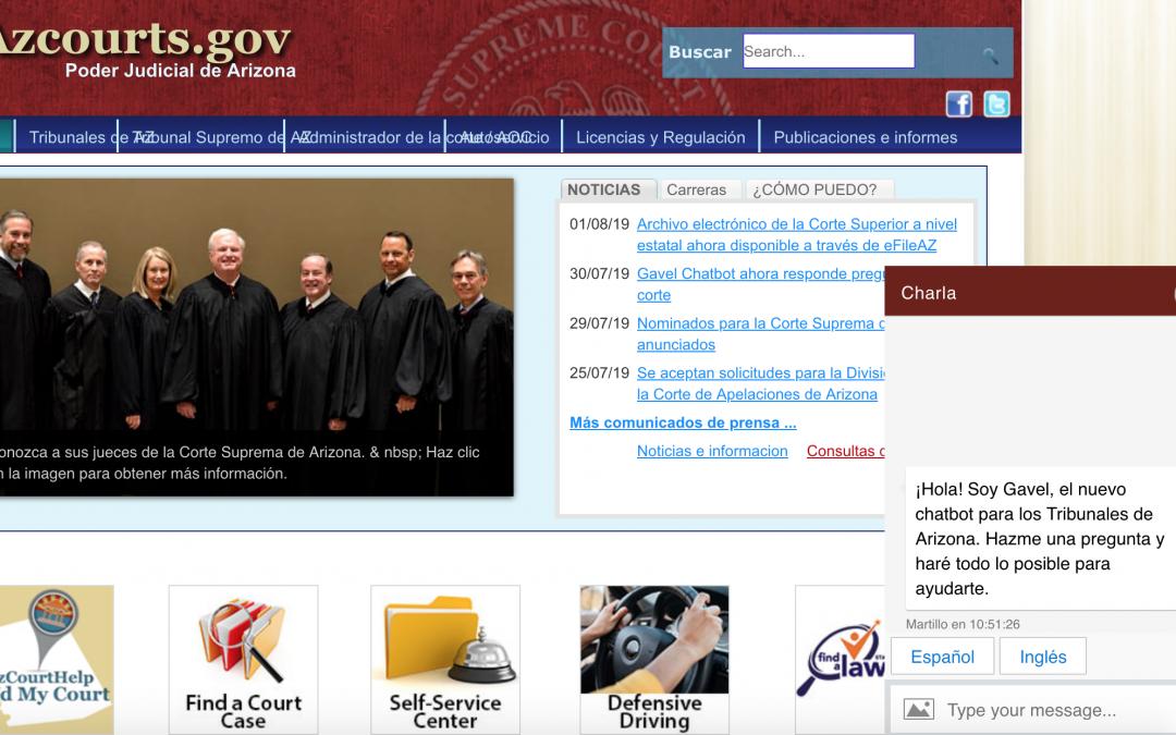 Gavel, el chatbot del poder judicial de Arizona