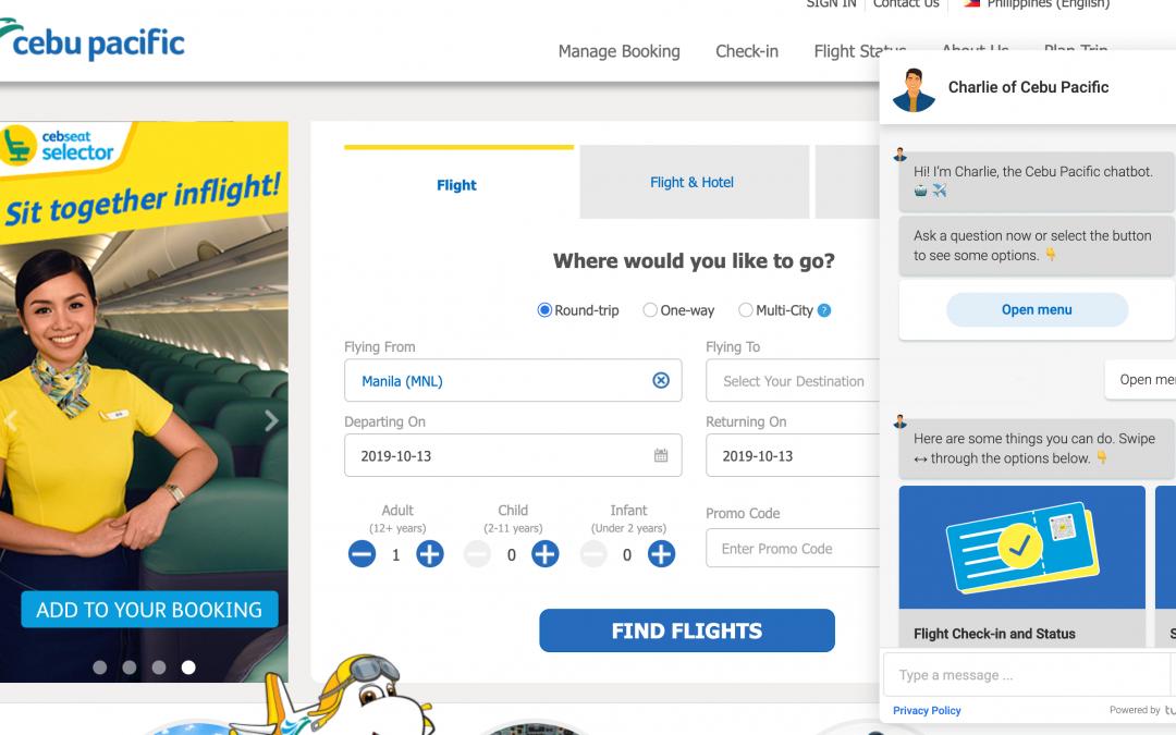 Cebu Pacific presenta su chatbot para atender a sus clientes
