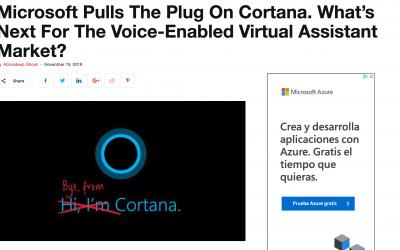 El último adiós de Microsoft Cortana