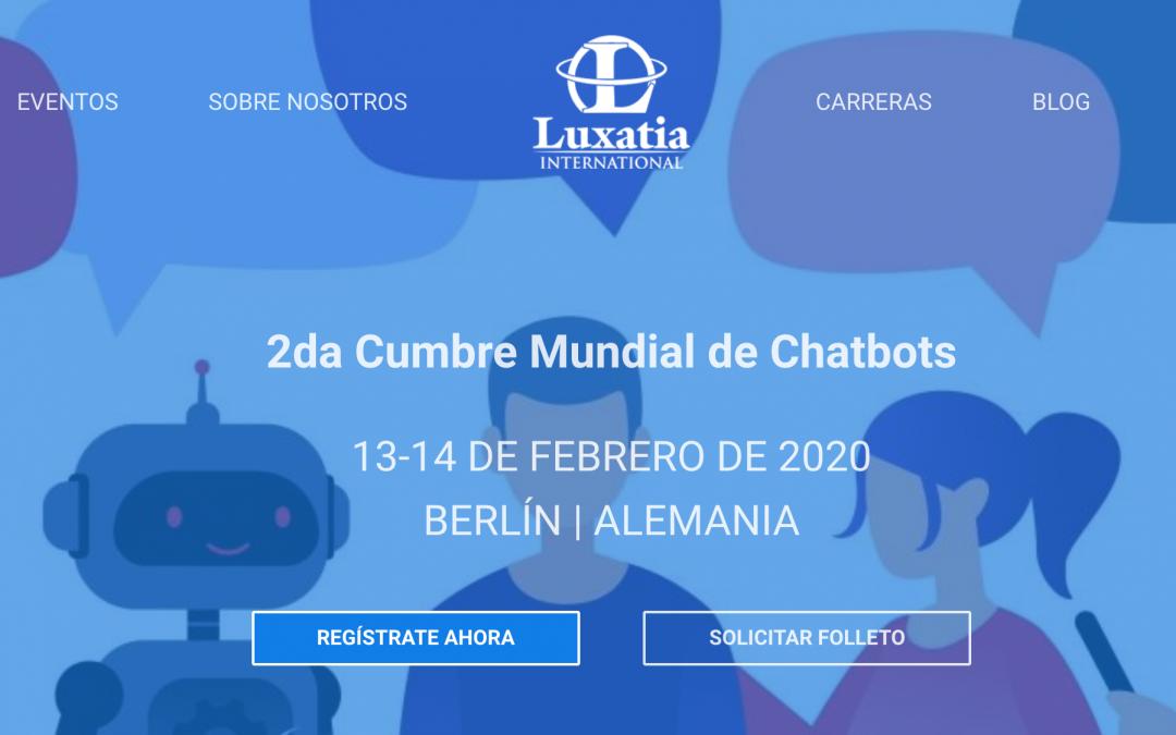 Febrero 2020: Segunda cumbre mundial de chatbots