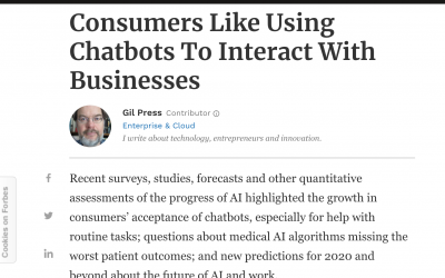 Forbes: al 62% de los consumidores de EEUU les gusta usar Chatbots para interactuar con las empresas