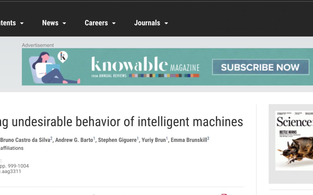 Científicos desarrollan un marco algorítmico para evitar que la IA 'se comporte mal'
