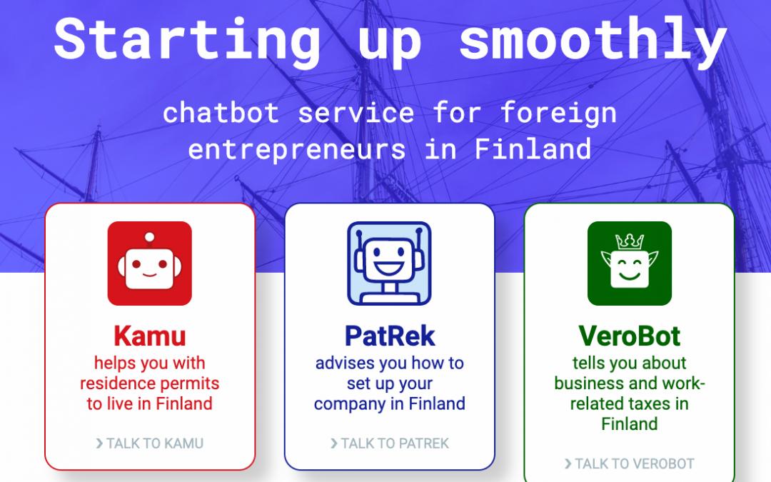 El gobierno finlandés ha creado tres chatbots que ayudan a los extranjeros que quieren establecerse en Finlandia