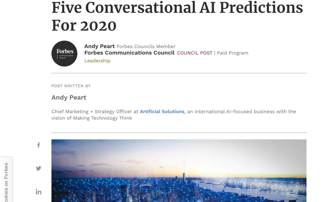 5 predicciones sobre los asistentes conversacionales para 2020