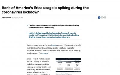 El uso del chatbot de 'Bank of America' se dispara durante la pandemia del coronavirus y el banco sabe aprovechar la oportunidad